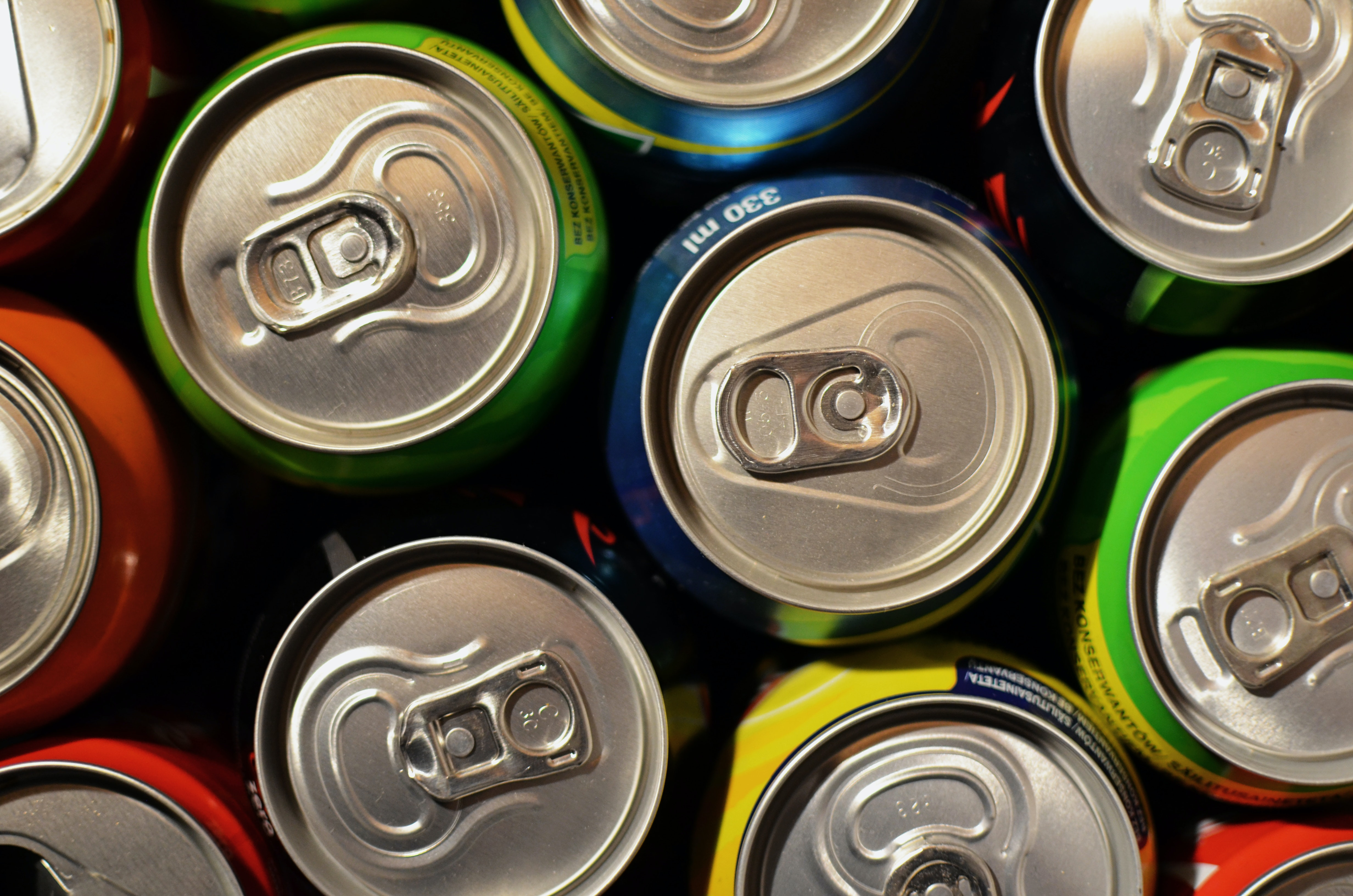 soft drinks can lid stock image